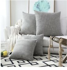 Kevin Textile 2 Pack Decorative Linen Throw Pillow Covers, Gray 24x24