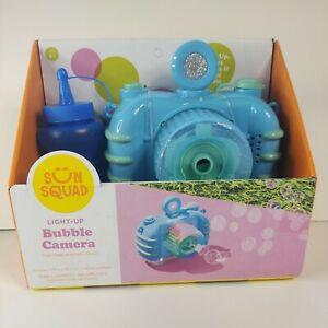 Bubble Machine Camera Toy Lights Up, Blows Bubbles & Plays Music Sun Squad