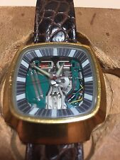 1975 BULOVA Accutron 214 Spaceview 100th Anniversary Watch - SWISS/USA - Runs
