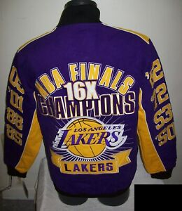 LOS ANGELES LAKERS Ultimate 16 Time NBA FINALS Cotton Jacket 3X 4X 5X 6X