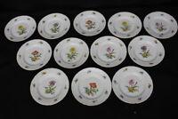 """Set of 12 Bing Grondahl B&G Saxon Flower 6.5"""" Bread/Dessert Plates Denmark"""