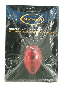 NATHAN 5058N MULTI-FUNCTION CLIP ON MICRO LED SAFETY STROBE LIGHT