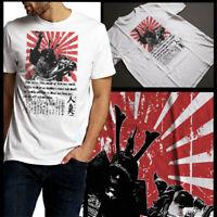 Samurai Shogun Warrior On Horseback Rising Sun Japanese Kanji And Quote Tee