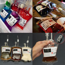 1X Halloween Reusable Clear Drink Blood Bag Haunted Party Decoration Scary Props