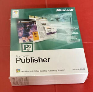 Microsoft Publisher Version 2002 - New & Factory Sealed