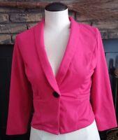 Charlotte Russe Womens Pink Long Sleeve Blazer Jacket Size Small