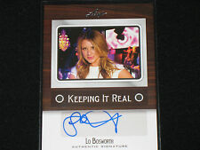LO BOSWORTH  2012 LEAF  keeping it real  AUTO  tv personality WRITER actress