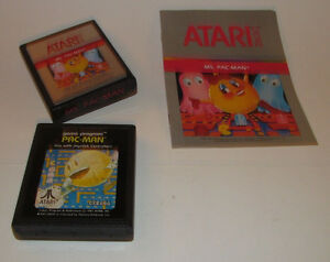 Atari 2600 Ms. Pac-Man Game and Instruction Manual with Bonus Pac-man Game VGC