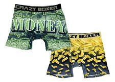 Mens Crazy Boxer Briefs 2-Pack Gold Bars Money Unique Packaging Underwear Gift