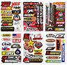 Lot of 6 Sheets Dirt Bike Motocross Supercross Sponsor FX KYB Decals Stickers