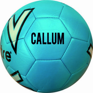 PERSONALISED PRINTED Mitre  training football  size 4 Blue, 1 OR 2 PANEL PRINT