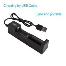 Carica Batterie Litio Ricaricabili Caricatore USB Universale Pila 18650 21700