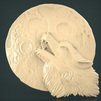 (1115) STL Model Wolf for CNC Router 3D Printer Artcam Aspire Bas Relief