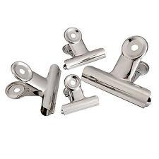 Set 4 Pezzi Mollette Clip Graffette Metallo Pinza Raccoglitore Fogli 38mm dfh