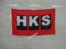 HKS Flag Banner 3x5ft Japanese Aftermarked Nissan Toyota Car Parts Garage