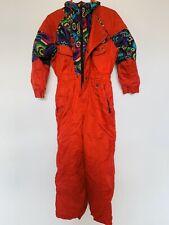 Red Rodeo 7-8yrs 120cm Ski Suit 80s 90s Retro Child Skiing Snowsuit