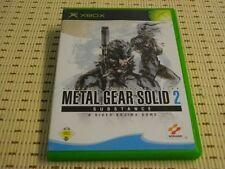 Metal Gear Solid 2 substance para Xbox * embalaje original *