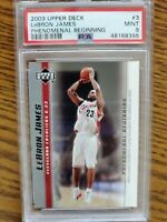 2003 UD LeBron James PSA 9 Phenomenal Beginning Rookie Basketball Card #3