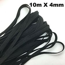 10M Braided Elastic Band Cord Sewing DIY 4mm for mask black