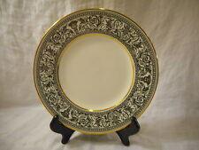Salad Plate, Wedgwood China, Black Florentine Pattern (W4312) Dragons Gold Trim