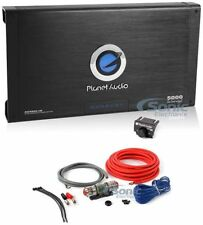 Planet Audio AC5000.1D Class D Car Mono Amp 5000W Max + Amp Wiring Kit Package