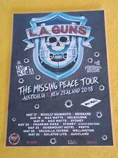 L.A. L A GUNS - 2018 Australia Missing Peace Tour  Laminated Poster GUNS N ROSES