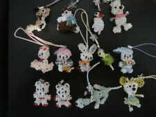 LOT OF 13 HAND BEADED CELL PHONE FOBS/CHARMS.  ATTACH TO ANYTHING YOU WANT!