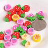 Cute 20-30Pcs/Bottle Fruit Cartoon Pencil Rubber Stationery Eraser Kids Gifts