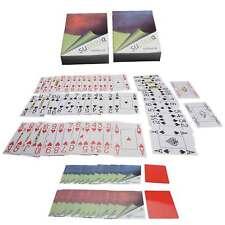 2x Pokerkarten Plastik abwaschbar mit Cut-Cards 4 große Eckzeichen Jumbo Index