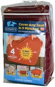 Universal Stretch Small - Medium Seat Covers - 4 Pack Fabric Cushion Slipcovers