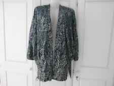 Zara Black/White Floral Kimono Style Jacket - M/UK10