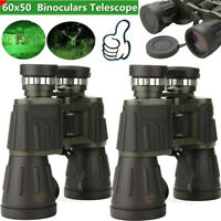 1x2x 60x50 Zoom Day/Night Vision Outdoor Binoculars Hunting Military Telescope