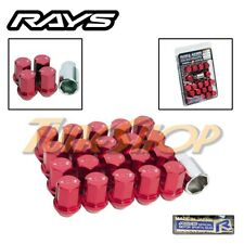 VOLK RAYS 35MM WHEELS LOCK LUG NUTS 12X1.25 1.25 ACORN RIM FORGED DURA 20 RED N