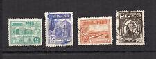 PEROU 1951 Y&T N°410 à 413 4 timbres oblitérés / 4148