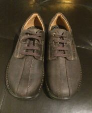 Nwob ECCO Fusion Bicycle Toe Lace Up Shoes Men's Size 39 Brown Leather
