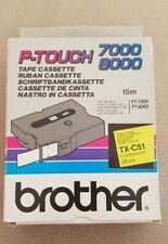 L=8m 2 Mal Brother Schriftband TZe-121 Bandfarbe=Transp Schriftfarbe=SW B=9mm