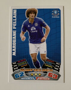 2011 Topps Marouane Fellaini Match Attax EPL Football Card Soccer Everton