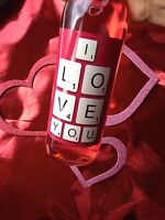 SCRABBLE I LOVE YOU VALENTINES DAY WINE BOTTLE LABEL GIFT