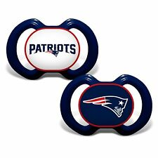New England Patriots Baby Pacifier Set Of 2 - Officially Licensed NFL BPA Free