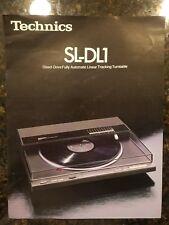 Vintage Technics  Hi-Fi brochure for Technics SL-DL1 turntable