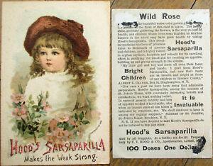 Hood's Sarsaparilla 1888 Victorian Trade Card w/Little Girl - Soda Pop