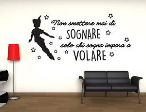 Adesivo Peter Pan Volare stickers murale decalcomania composizione  vari colori