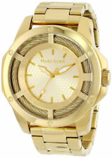 Marc Ecko Mens The Shock 3 Hand Cable Bolt Gold Tone Watch E15049G1 NEW!
