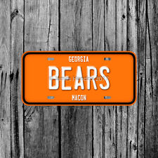 Mercer University Bears Macon Georgia License Plate