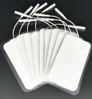10 LARGE TENS ELECTRODE PADS Reusable 10cm x 5cm Gel Replacement For Tens Units