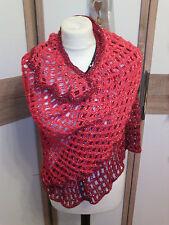 Damen-Drachenschal-Dreiecktuch-Stola-Schal,Handarbeit,Verlaufswolle,NEU