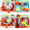 Kids Wooden Kitchen Toy Set Pretend Play Cooking Play Toddler Wood Food Toy G