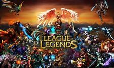 League of Legends game Fabric Art Cloth Poster 21inch x 13inch Decor 27