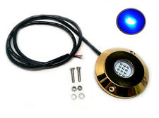 Pactrade Marine Underwater Blue LED Light Golden Housing Surface Mount
