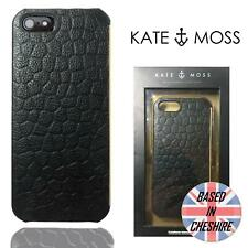 Kate Moss Crocodile Case for Apple iPhone 5 5S SE Hard Tough Luxury Black Cover